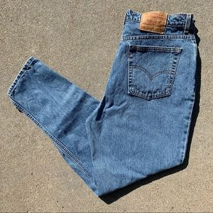 Vintage Levi's 550 relaxed fit tapered leg jeans size W20